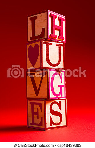 Valentine's Day decoration with the word LOVE - csp18439883