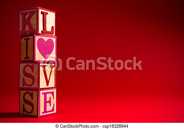 Valentine's Day decoration with the word LOVE - csp18328944