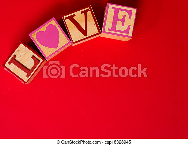 Valentine's Day decoration with the word LOVE - csp18328945
