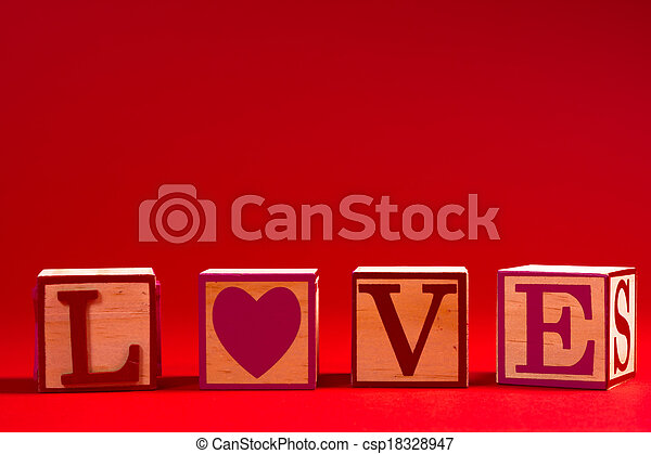Valentine's Day decoration with the word LOVE - csp18328947
