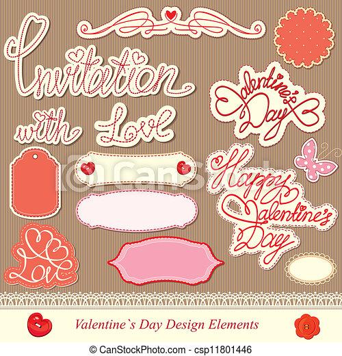 valentine's day design elements - csp11801446