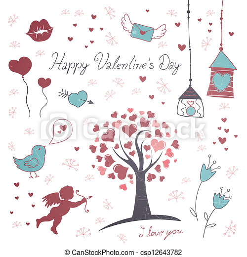 Vector Illustration Of Valentine S Day Elements