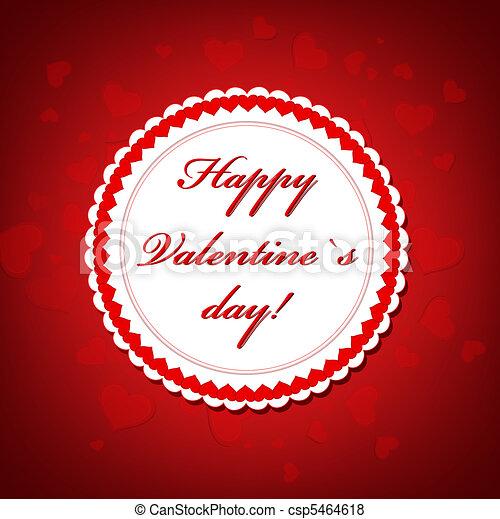 Valentine`s day frame - csp5464618