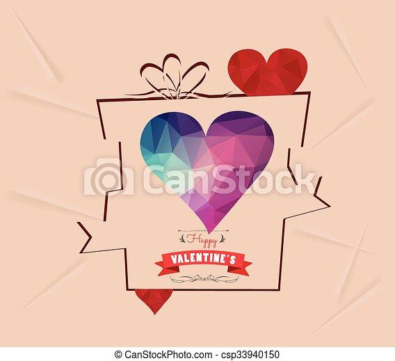 Valentines day gift background retr - csp33940150
