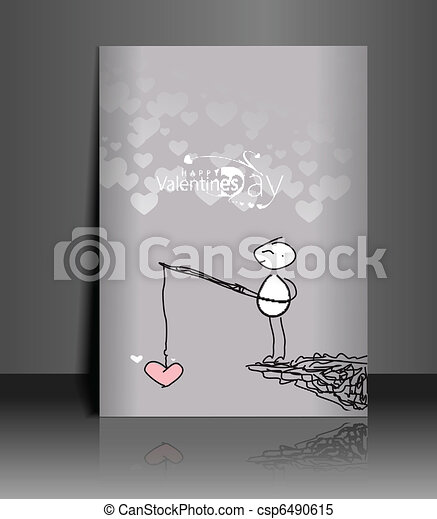 valentine's day greeting card - csp6490615