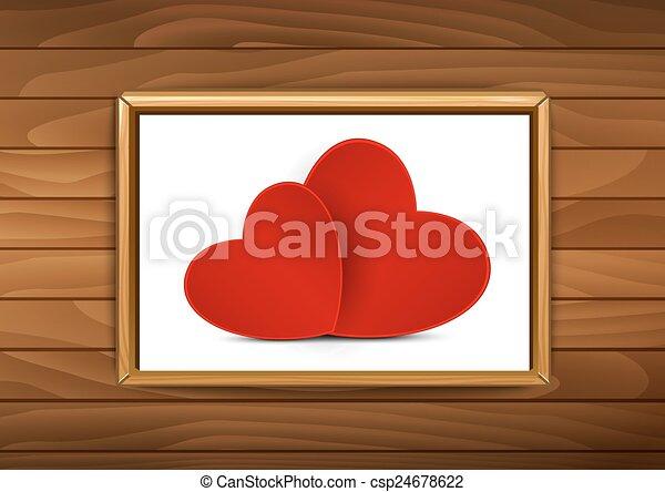 Valentine's Day greeting card - csp24678622