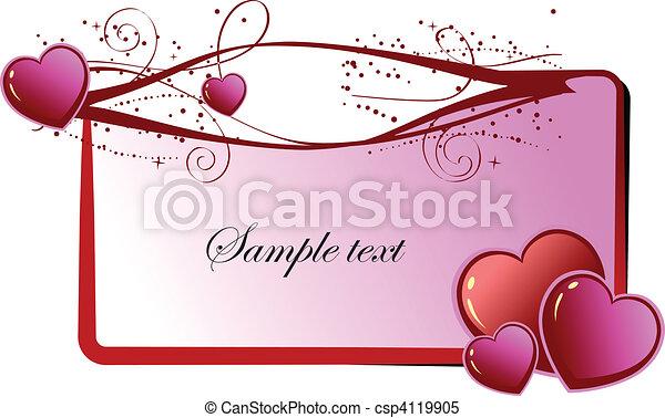 Valentine`s Day  Greeting Card. Ve - csp4119905