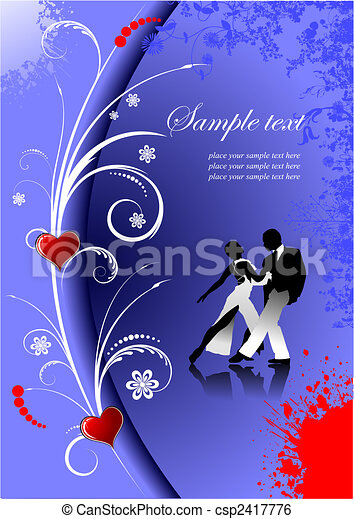 Valentine`s Day  Greeting Card. Vector illustration. Invitation card - csp2417776