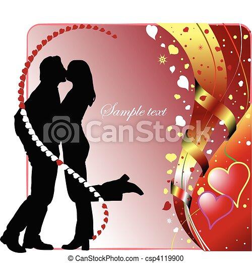 Valentine`s Day  Greeting Card wit - csp4119900