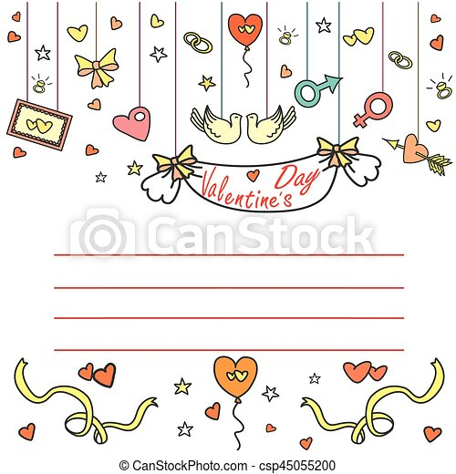 Valentine's Day greeting card with space for text - csp45055200