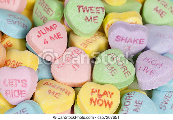 Valentine S Day Heart Candy Heart Shaped Candy With Sayings On It