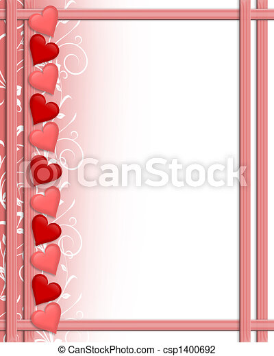 Valentines Day Hearts border - csp1400692