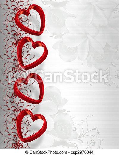 Valentines Day Hearts Border - csp2976044