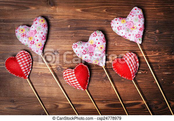 Valentines day hearts - csp24778979