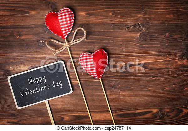 Valentines day hearts - csp24787114