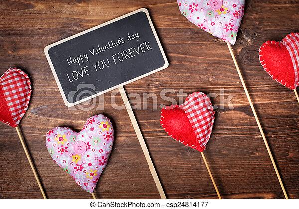 Valentines day hearts - csp24814177