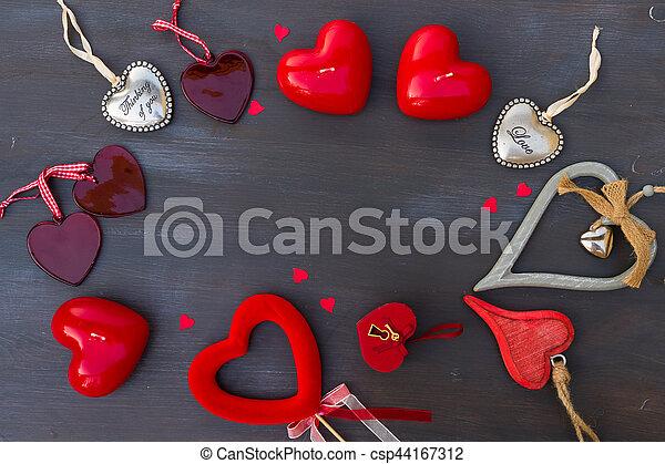 Valentines day hearts - csp44167312