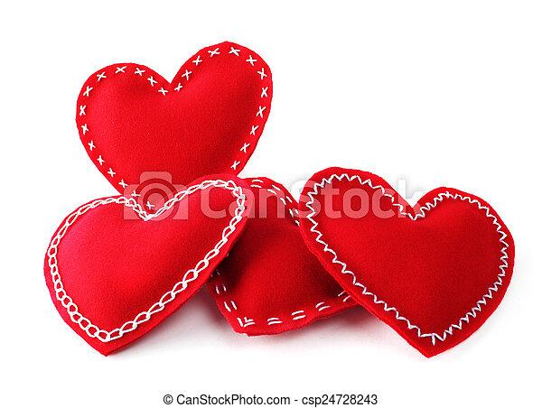 Valentines day hearts - csp24728243