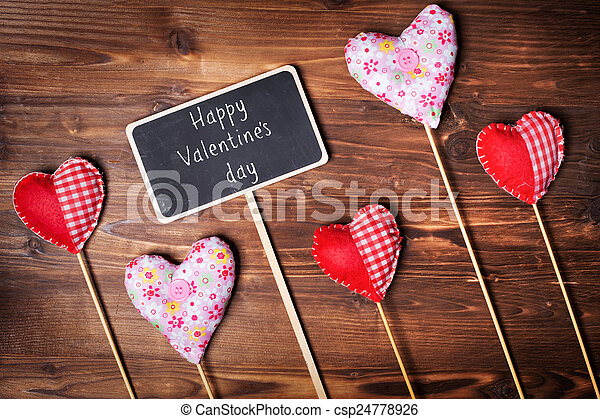 Valentines day hearts - csp24778926