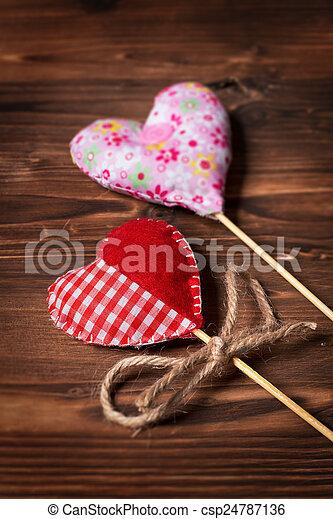 Valentines day hearts - csp24787136