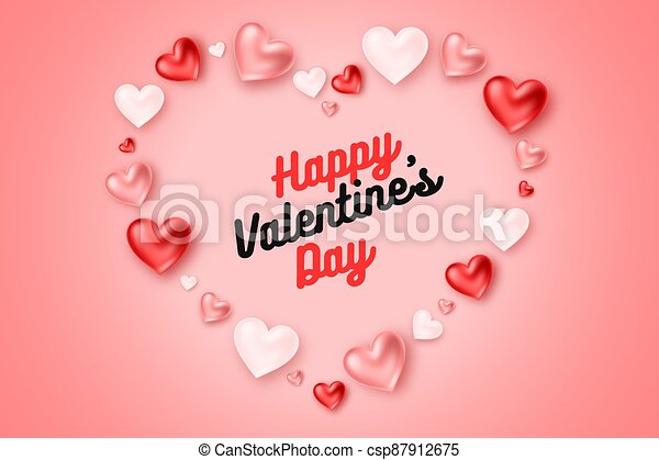 Valentine's day holiday greeting card. | CanStock