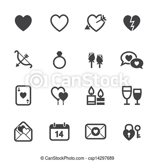 Valentines Day Icons and Love Icons - csp14297689