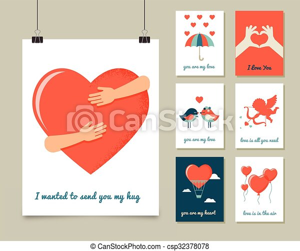 Valentines day love greeting cards and poster valentines day valentines day love greeting cards and poster csp32378078 m4hsunfo