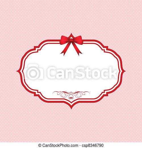 Valentines Day polka dot background - csp8346790