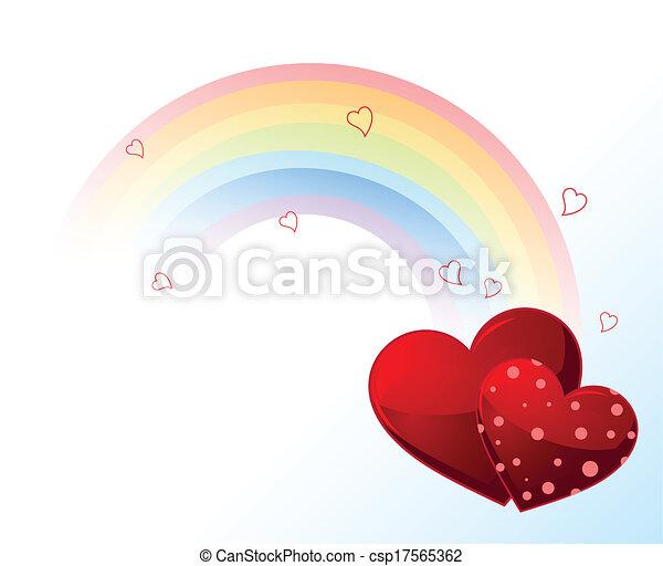 Valentines day rainbow - csp17565362