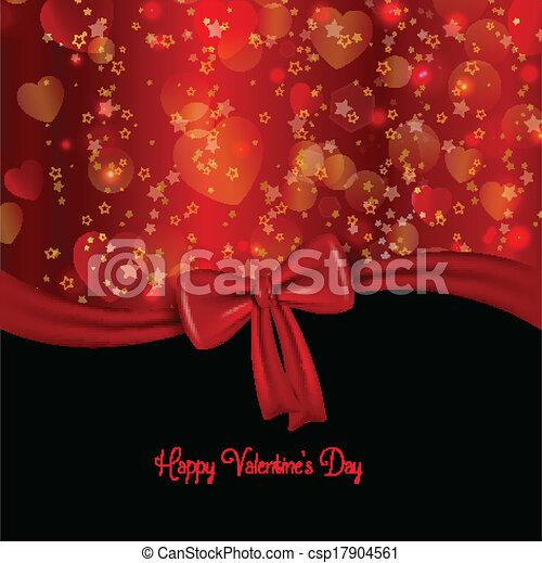 Valentine's day ribbon background - csp17904561