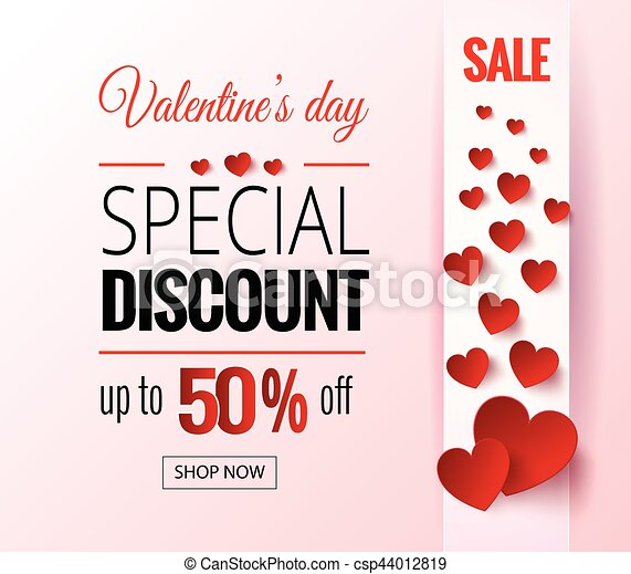 dfea7d377c Valentines day sale flayers. vector valentines day for online shopping  website and mobile website banners, posters, newsletter designs, ads,  coupons, ...