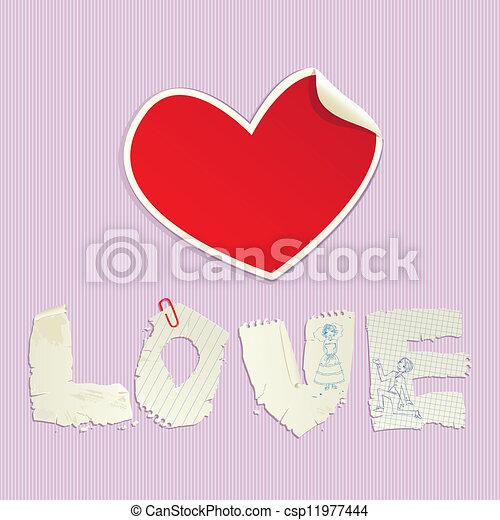 Valentine`s Day scrapbooking elemen - csp11977444