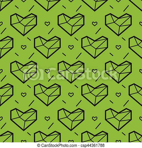 Valentines Day Seamless Pattern With Heart Geometry Style Abstract
