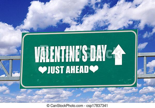 Valentine's day sign - csp17837341