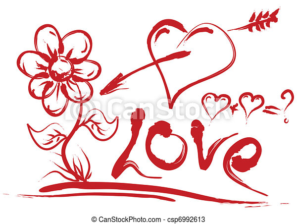 valentines day symbols. beautiful valentines day handdrawing, Ideas