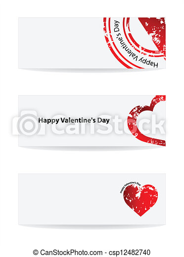 Valentine's Day vector banner with special design - csp12482740