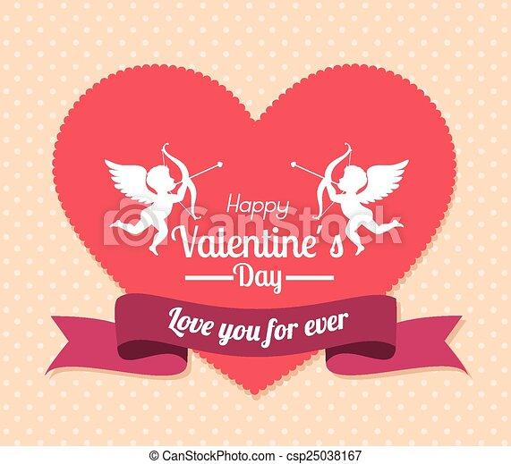 Valentines day, vector illustration. - csp25038167