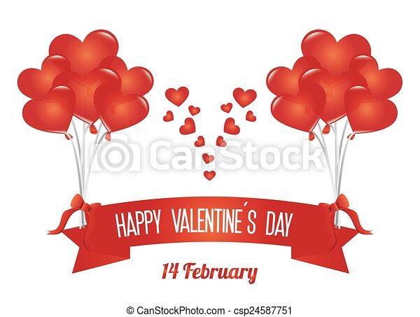 Valentines day, vector illustration. - csp24587751