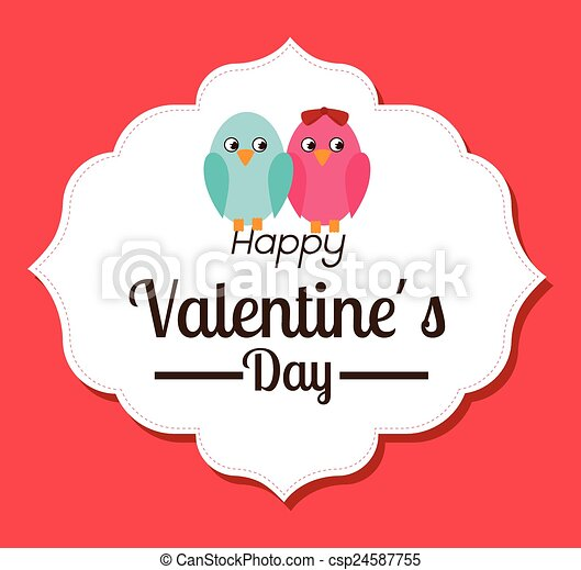 Valentines day, vector illustration. - csp24587755