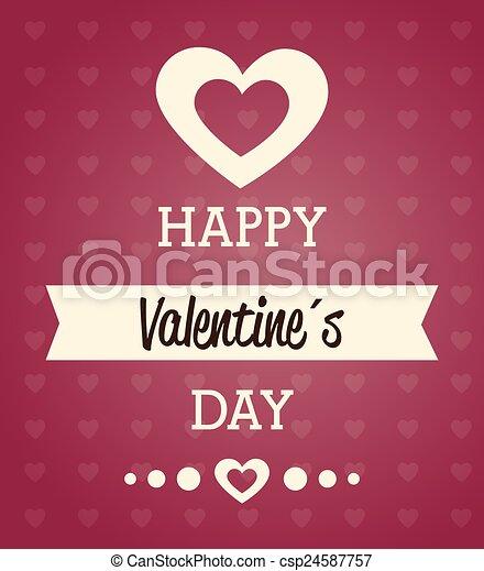 Valentines day, vector illustration. - csp24587757
