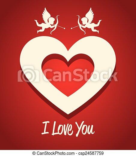 Valentines day, vector illustration. - csp24587759