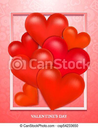 Valentines Day vector illustration - csp54233650