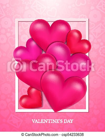 Valentines Day vector illustration - csp54233638