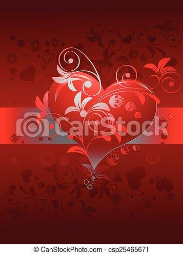 Valentines day, vector illustration - csp25465671