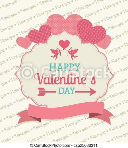 Valentines day, vector illustration. - csp25038311