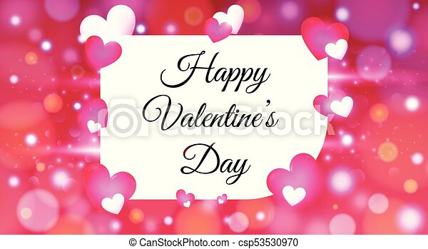 Valentines Day With Colorful Hearts Background Wallpaper Flyer Invitation Brochure Banners