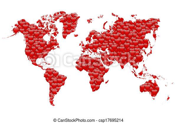 Valentine S Day World Map Valentines Day World Map In White Background
