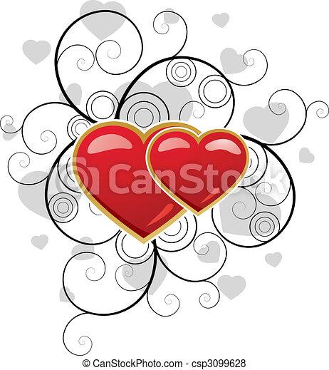 valentine\'s, dzień, tło - csp3099628