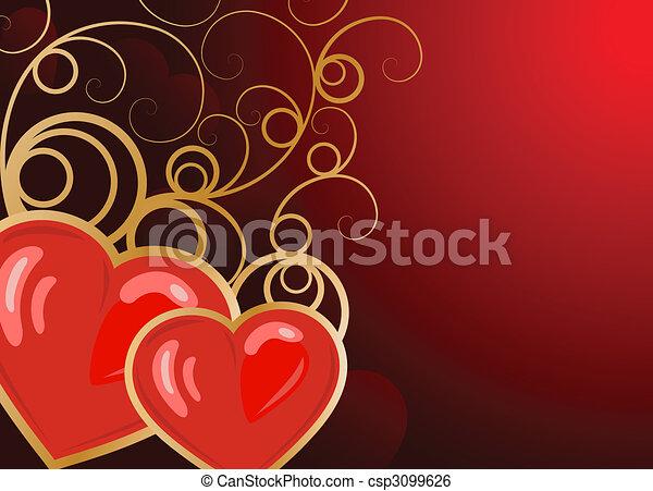 valentine\'s, dzień, tło - csp3099626