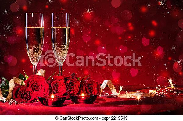 valentines, fond, jour - csp42213543